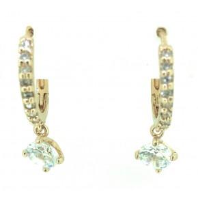 Rose Gold CZ Hoop  Earrings